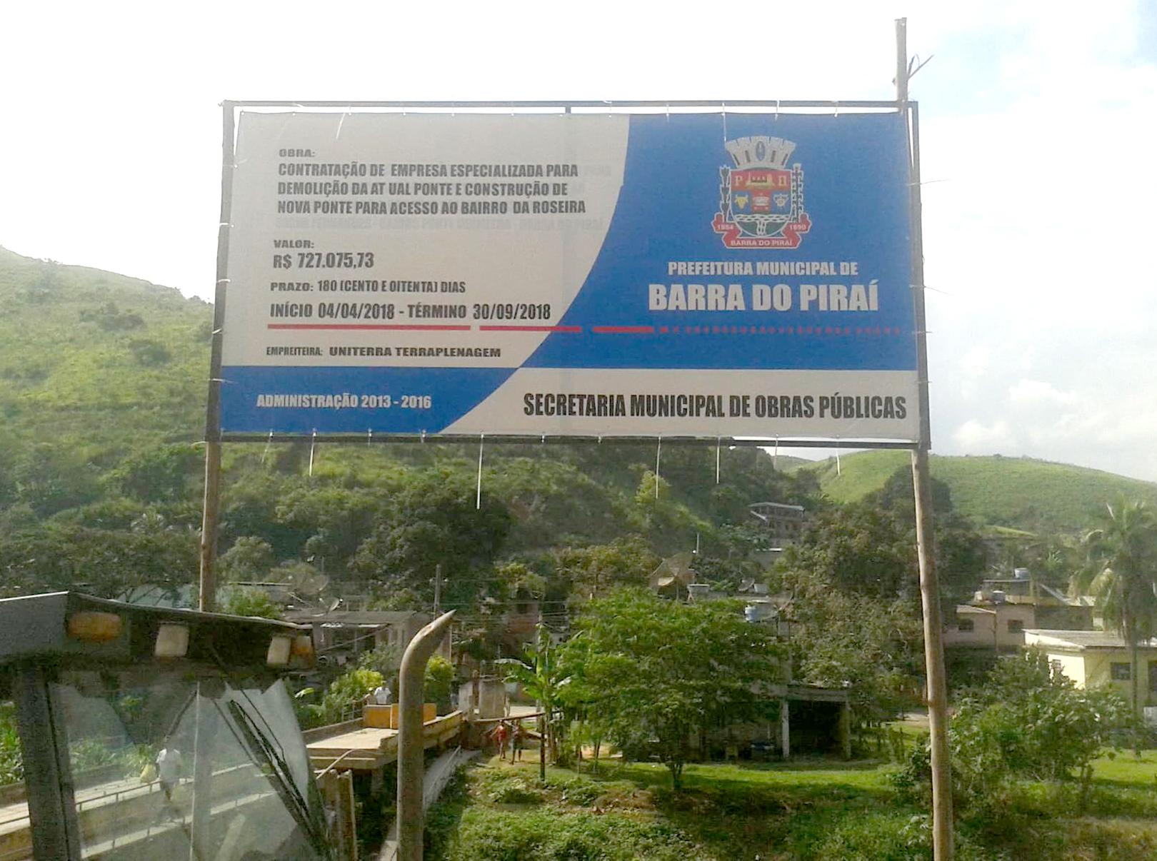 Empreiteira contratada pela Prefeitura de Barra do Piraí inicia obra ...